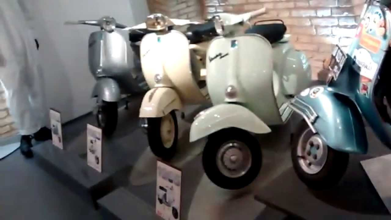 tour of the rome vespa museum in hd youtube