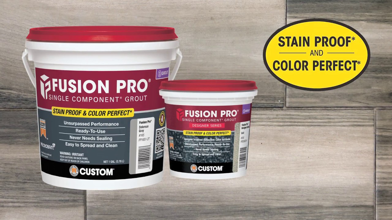 Fusion Pro Fusion Pro Grout Is Stain Proof And Color Perfect