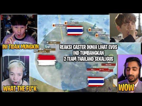 REAKSI CASTER NEGARA-NEGARA FFCS!! EVOS INDO TUMBANGKAN 2 TIM THAILAND SEKALIGUS