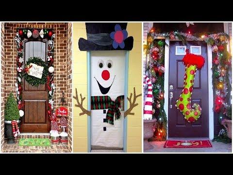 30 ideas para decorar la puerta de tu casa o escuela en - Como adornar una pared ...