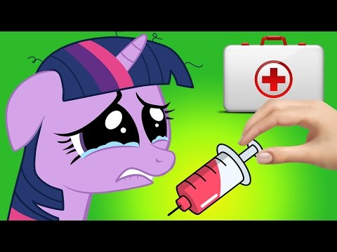 My Little Pony Pet Care - Twilight Sparkle Doctor Treatment Funny Caring Game for Kids & Toddlers