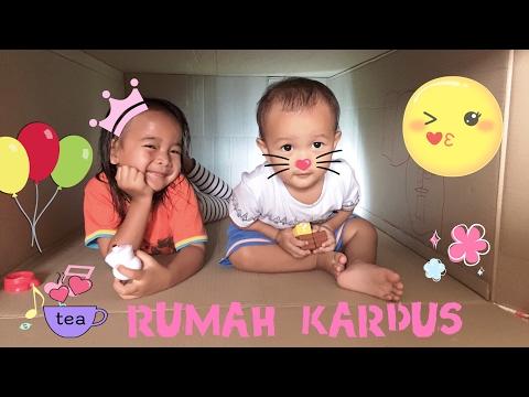 Zara Cute membuat Rumah dari Kardus | Building a Playhouse out of Cardboard Box | Crayola for Baby