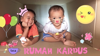 Zara Cute membuat Rumah dari Kardus | Building a Playhouse out of Cardboard Box | Crayola for Baby