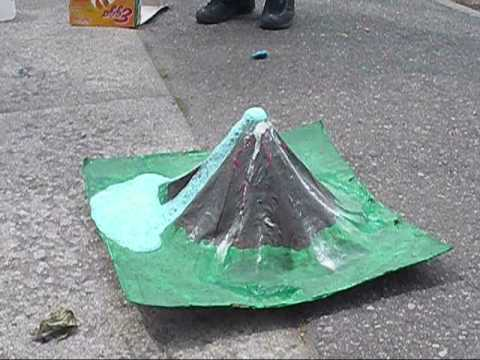 How to make a volcano no paper mache
