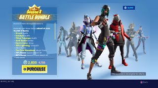 Buying up the Season X Battle Bundle (Battle Pass) FORTNITE!