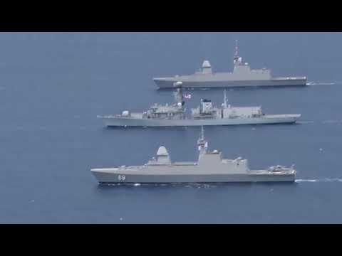 UK, Australia, Malaysia, New Zealand & Singapore (FPDA) Joint Naval Exercise