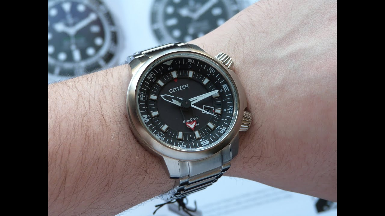 bdb36990fc7 Relógio Citizen Promaster Eco-drive GMT BJ7080-53E TZ30759T - YouTube