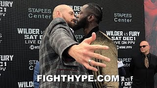 TYSON FURY GETS ALL UP IN DEONTAY WILDER