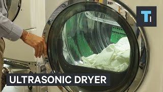 This dryer dries clothes in half the time with no heat