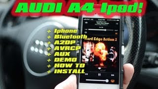 AUDI A4 BLUETOOTH IPOD AUX, Streaming A2DP AVRCP GROM AUDIO MP3 VAG AUX USB STREAMING