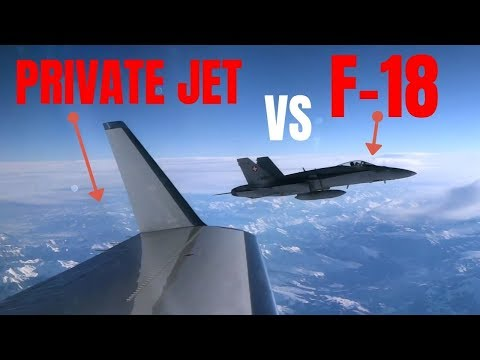 When your PRIVATE JET is intercepted by F-18s !!
