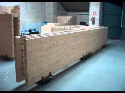 Muro portante de tablones de madera laminada youtube - Muro de madera ...