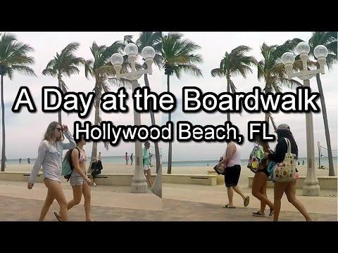 Spring Day at Hollywood Beach Boardwalk, Hollywood FL