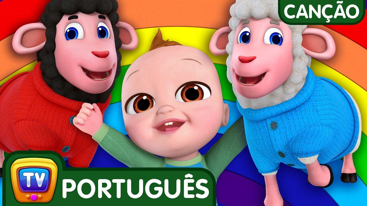 Ovelha Negra - Cores do arco-íris (Baa Baa Black Sheep) | Canções para Crianças | ChuChu TV