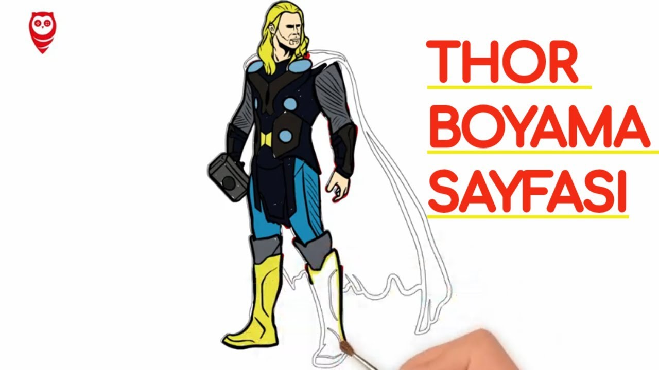 Thor Ve Mjolnir çekiç Boyama Ve çizim Sayfası çocuklar Için Nasıl