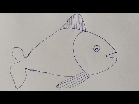 How To Drawing An Origami Paper Fish | Drawing Paper Folding Craft Video And Tutorials 2019
