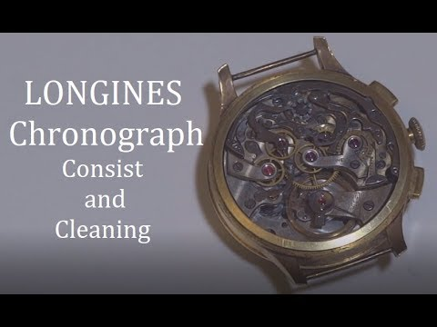 Longines Chronograph - Dismantling and Cleaning
