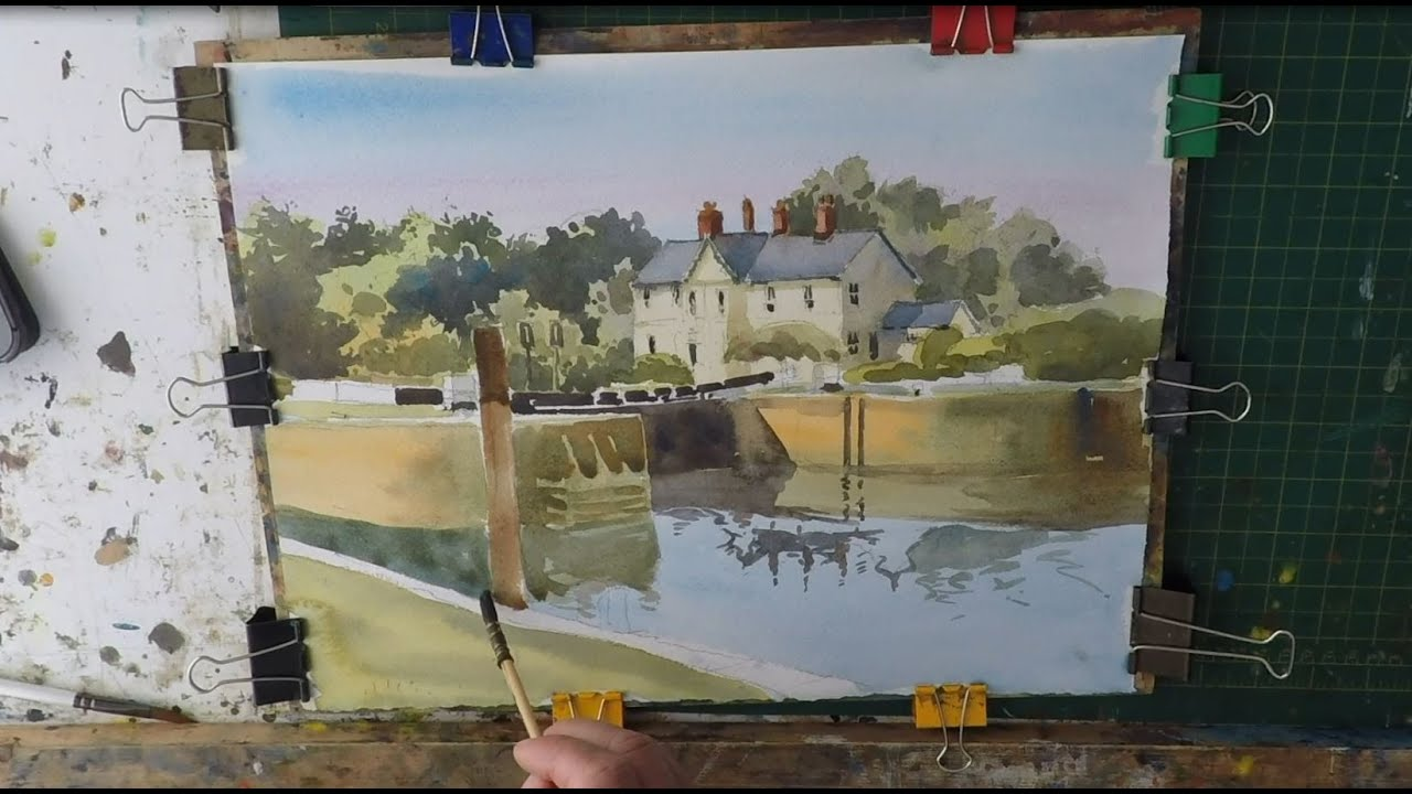 How To Paint Buildings And Trees In Watercolour Easy