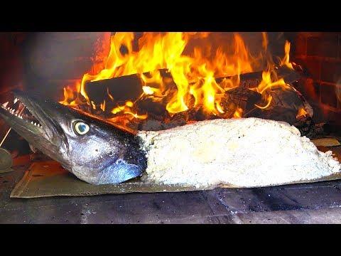 【BBQ】毒カマスを巨大塩釜焼きにした食す!【ハイサイ水族館#6】