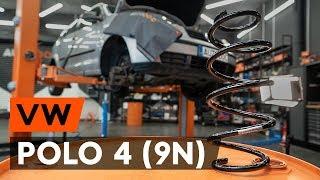 VW POLO Etujouset ja takajouset asentaa : videokäsikirjat