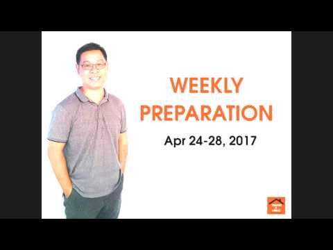 Forex สอน เทรด : 055 - Trading Plan Apr 24-28 ,2017