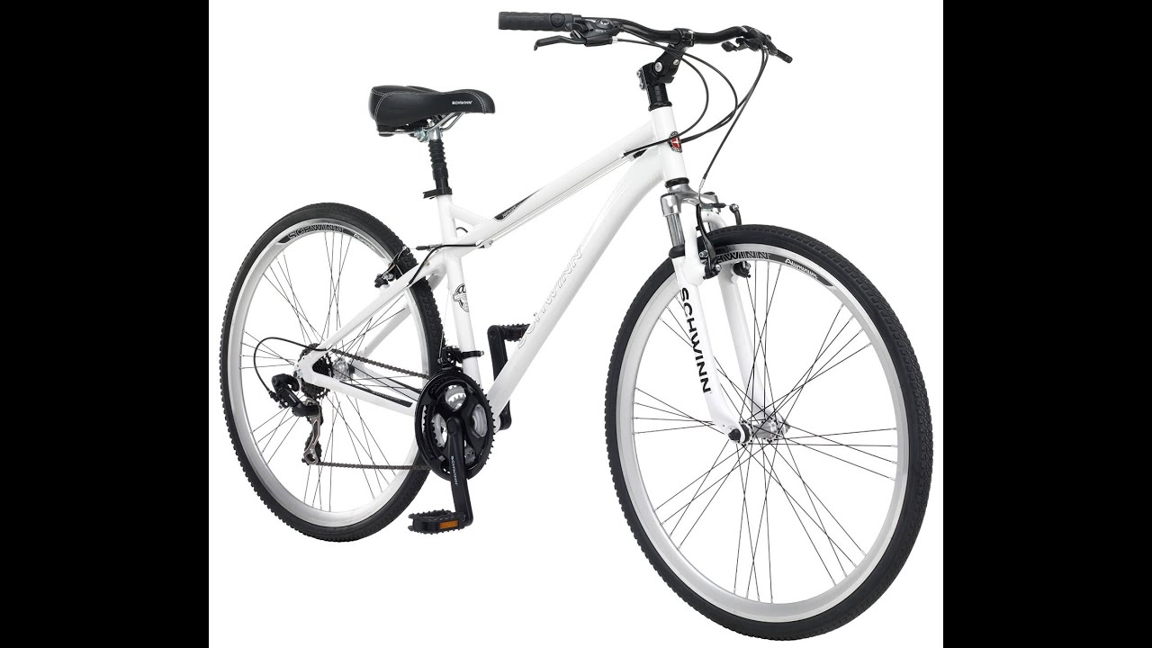 Schwinn Men\'s Network 3.0 700C Hybrid Bicycle, White, 18-Inch - YouTube