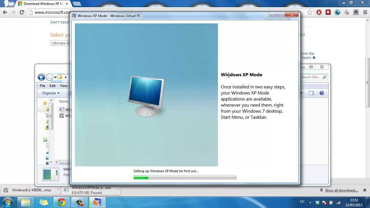 How to Install Windows XP Mode in Windows 7 - YouTube