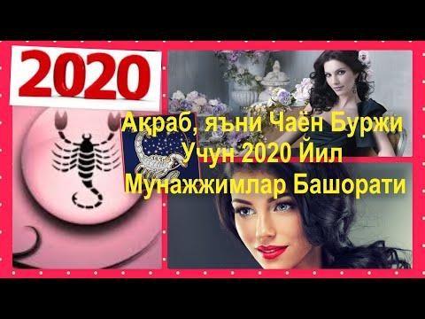 Ақраб, яъни Чаён Буржи Учун 2020 Йил Мунажжимлар Башорати
