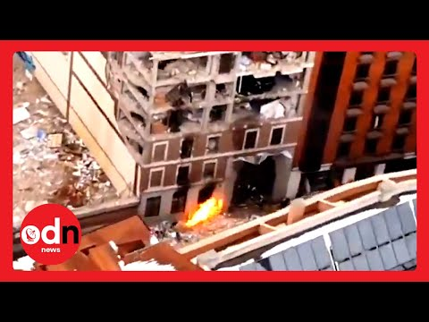 MASSIVE Explosion Destroys Residential Building in Central Madrid
