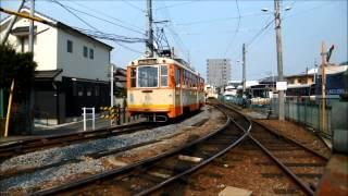 引上げ線は忙しい。朝の道後温泉駅 伊予鉄道