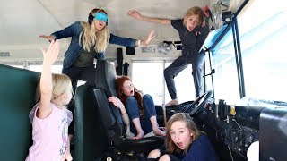 LAST TO BE FOUND WINS NO CHORES FOR A WEEK (school bus challenge)