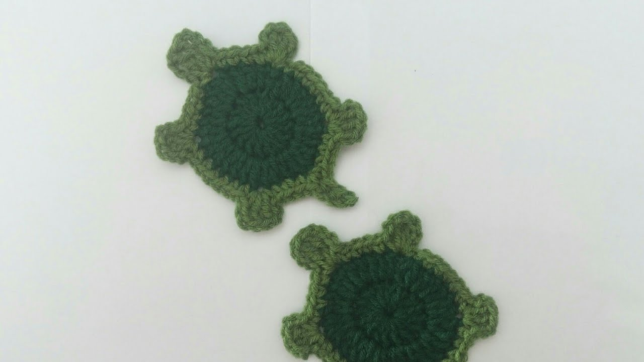 How to Crochet Turtle/Tortoise Applique Tutorial - YouTube