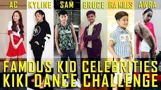 """Famous Kid Celebrities """"Kiki"""" Dance Challenge"""