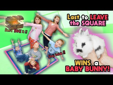 Last To Leave The SQUARE WINS Cute BABY BUNNY! Tannerites Last To Leave Game!
