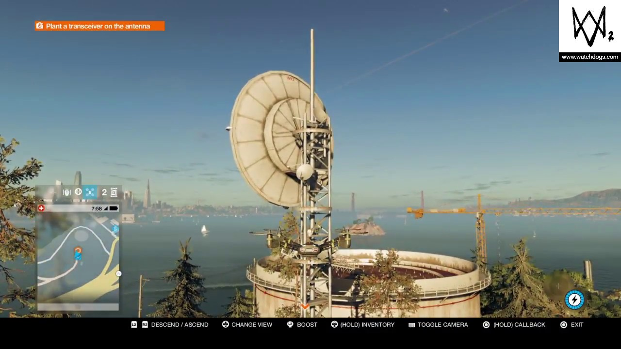 Plant A Transceiver On The Antenna Watch Dogs