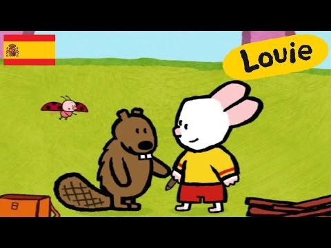 Castor - Louie dibujame un castor  Dibujos animados para niños