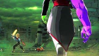 SS Rage Trunks VS Fused Zamasu Full Fight (ENGLISH DUB) - Dragon Ball Xenoverse 2