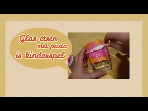 Glas etsen met pasta is kinderspel - Handleiding