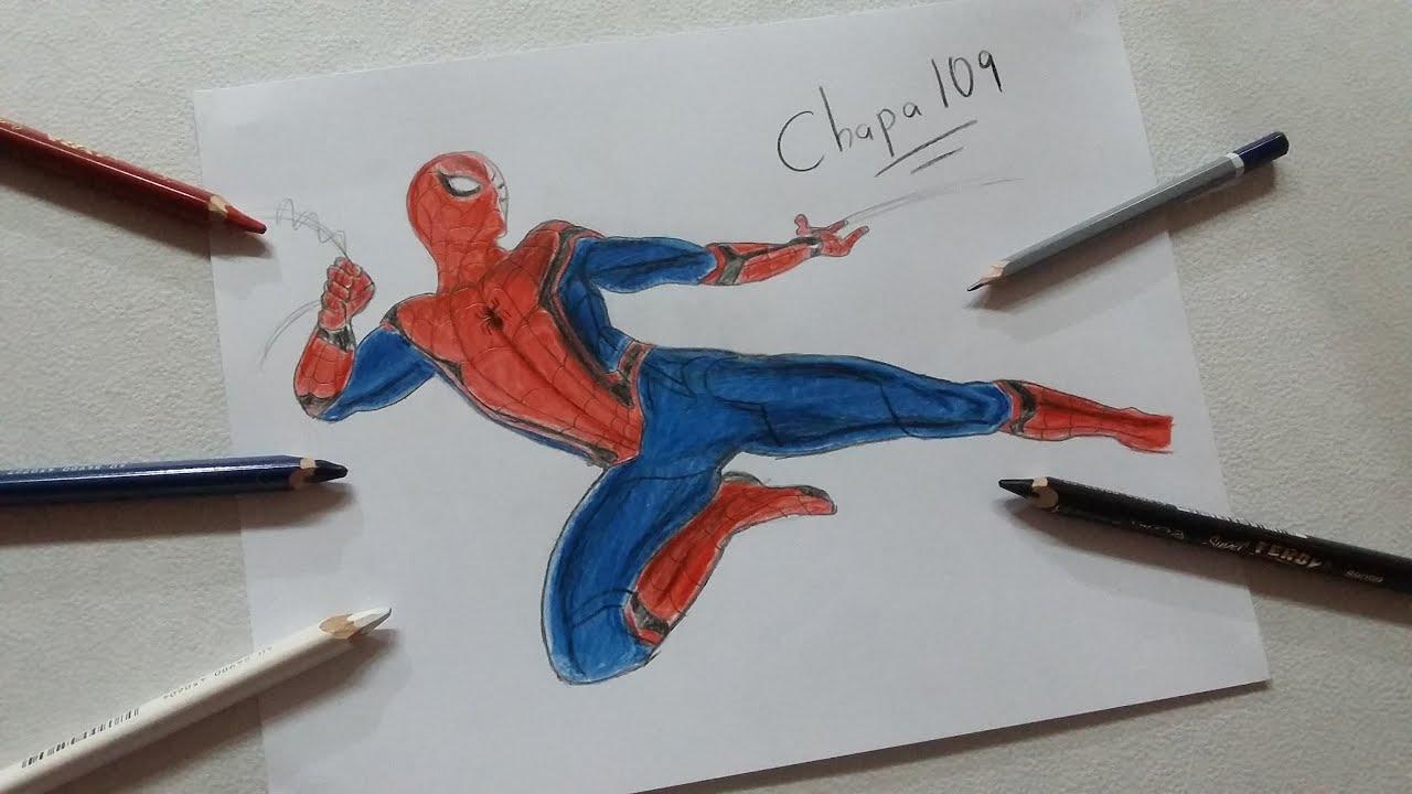 Dibujo de Spiderman Homecoming Drawing Spiderman Homecoming  YouTube