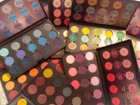 Makeup Collection Series: My MAC Palettes and How I Organize Them!