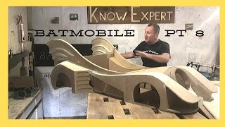 Batmobile build Part 8 kids ride on electric car. Batman's car. Garage wooden toy go kart project