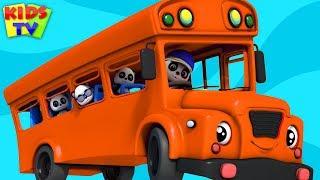 Wheels On The Bus   Baby Bao Panda Cartoons   Nursery Rhymes by Kids TV