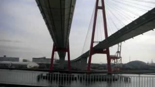 太平洋フェリー 「いしかり」 名港西大橋をくぐる