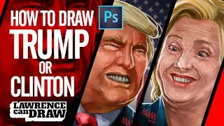 How to draw President Donald Trump (or Clinton)