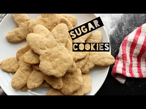 Healthy Sugar Cookie Recipe | How To Make Dairy Free Sugar Cookies