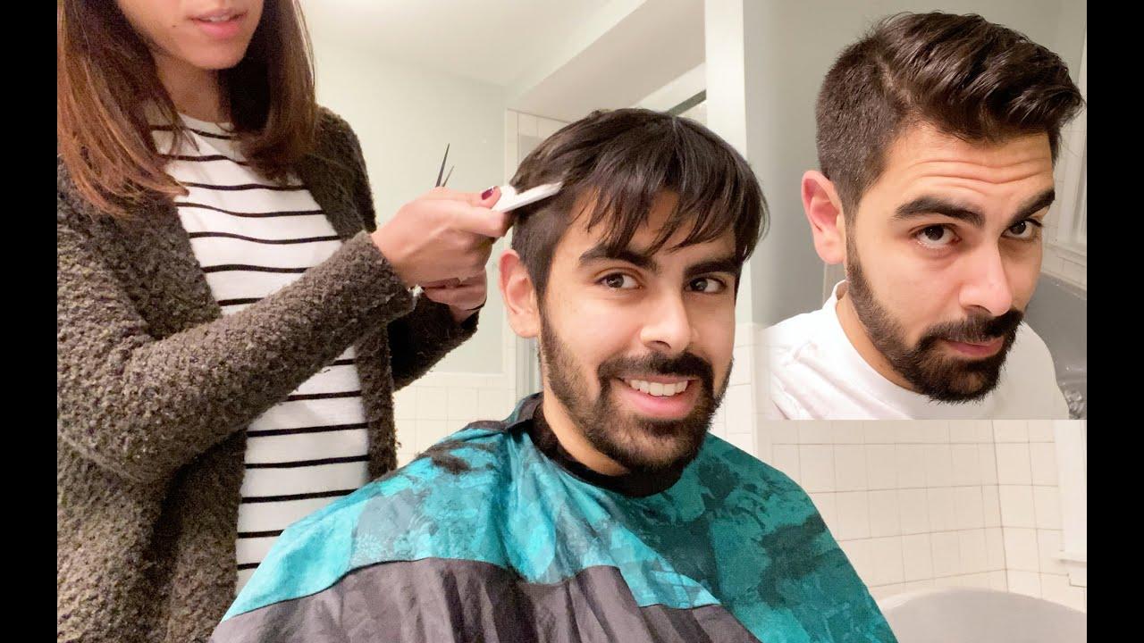 My Wife Cut My Hair How To Cut Men S Hair Youtube