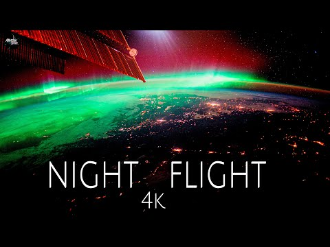 Night Flight - Journey from space over the Earth at night in real-time [4K]