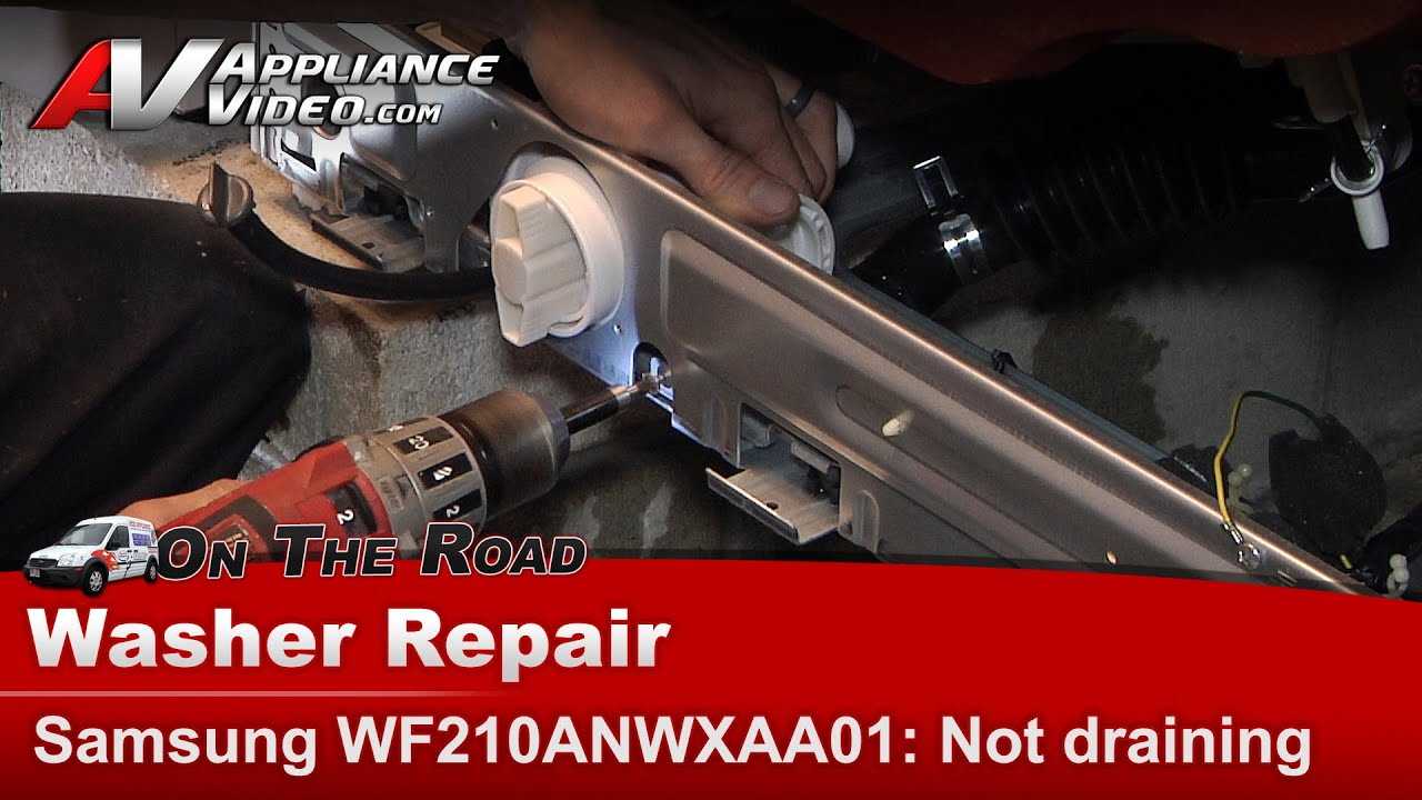 Washer Not Draining Or Spinning Samsung Washer Diagnostic Repair Will Not Drain Or Go Into