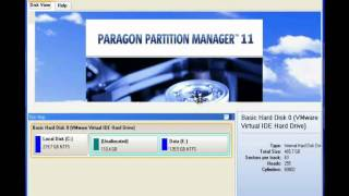 Paragon Partition Manager 11 - How to Resize a Partition