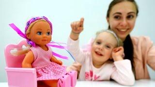 Мультик про #Барби и #Штеффи: делаем повязки из лент! Видео для девочек. Поделки с детьми